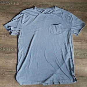Men's Hollister blue pocket T size Large